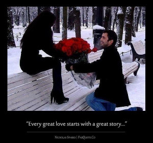 Nicholas sparks every great love quote