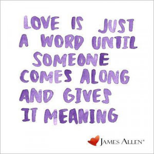 James allen Love Quote