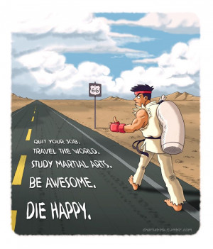 Ryu   Street Fighter   Quit your job. Travel the world. Study martial ...
