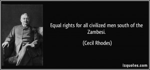 Man Equal Rights Quote