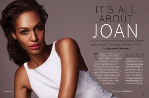 it's all about joan: joan smalls by jonas bresnan for uk glamour june ...