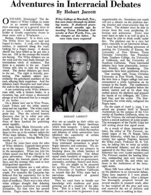 The Real Story of the Wiley College Debate Team - August, 1935 by ...