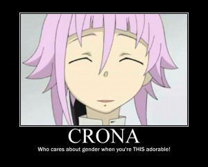 Soul Eater Crona Boy Or Girl Crona motivational poster by
