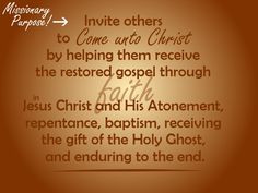 Missionary Purpose #LDS #quotes PreparetoServe.com