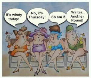 Funny Old Lady Friends Cartoons