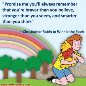 Promise me you'll always remember that you're braver than you ...