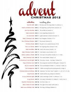 advent printable-verses and activities More