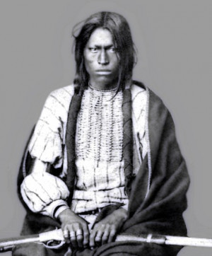 The title of this photo is: (Sioux Chief Running Bear who defeated Col ...