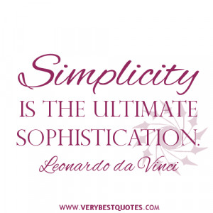 Simplicity Of Life Quotes