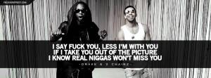Drake and 2 Chainz No Lie Lyrics Facebook Cover