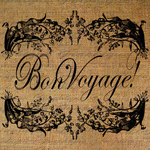 FRENCH Text BON VOYAGE Words Quote Frame Digital Collage Sheet ...