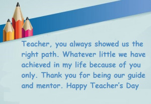 Happy Teachers Day 2014 Greeting Card with Wishes and Quotes