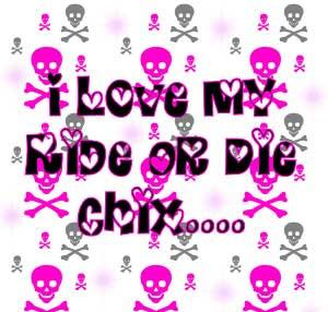love my ride or die chix