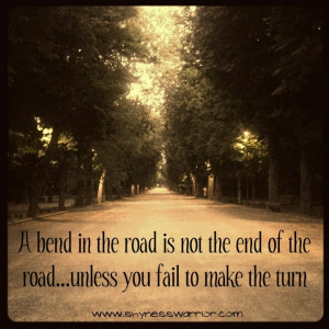 The road doesn't end.