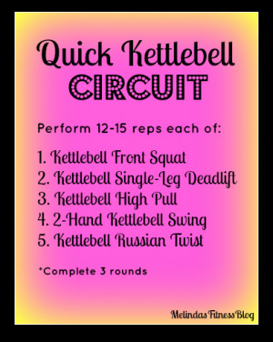 up with a lil kettlebell workout that i did today after my arm workout