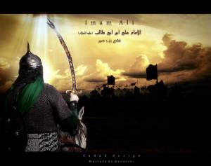Imam Ali on the battlefield by mustafa20