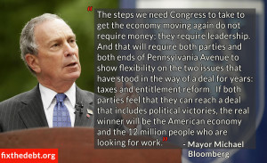 New York City Mayor Michael Bloomberg today joined the Fix the Debt ...