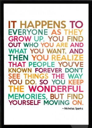 Nicholas Sparks Framed Quote