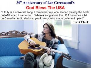 Terri Clark quote about Lee Greenwood's