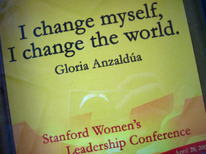 Cahange Myself,I Change The World ~ Leadership Quote