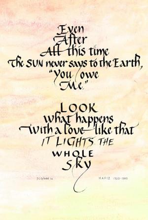 hafiz poems images hafez poem in english pictures