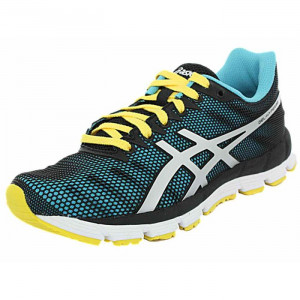 Baskets running Asics Gel Hyper33 turquoise gris jaune Baskets