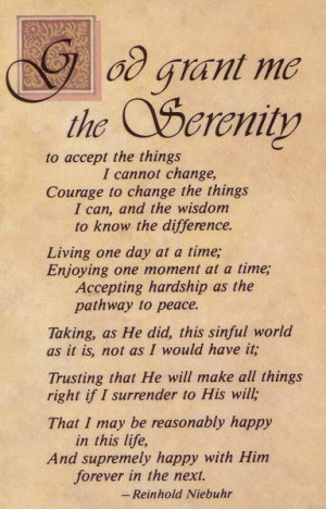 Serenity prayer- my next tattoo but not the whole thing bc im not that ...