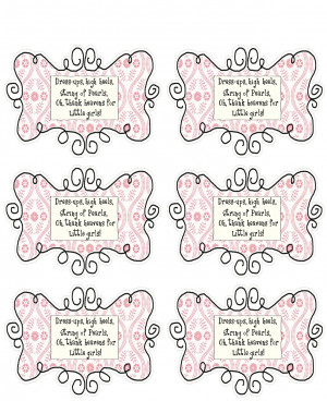 Baby Shower Favors Sayings A baby shower party favor.
