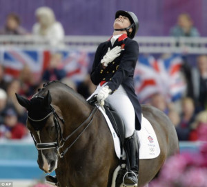 ... riding her horse Valegro during the equestrian dressage competition