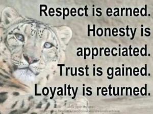 Respect,Honesty,Trust