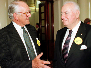 Gough Whitlam compares himself to Malcolm Fraser in 1975. The pair ...
