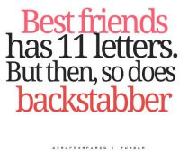 backstabber #friendship #bestfriends