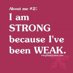 Quotes about me i am strong