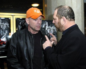 Bruce Willis and Harvey Weinstein at event of Sin City (2005)