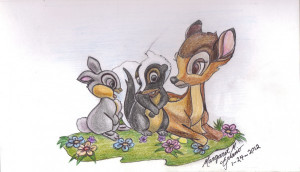 Flower Bambi Credited Quoteko