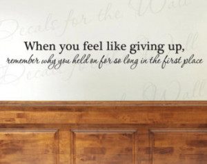 Giving Up Office Inspirational Motivational Vinyl Wall Decal Quote ...