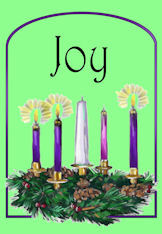 Joy - Third Week of Advent candles