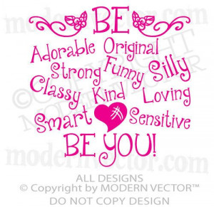 ... , Funny, Original, Strong Quote Vinyl Wall Decal Girls Inspirational