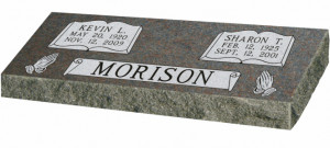 Choose Companion Grave Marker Size and Color for quote
