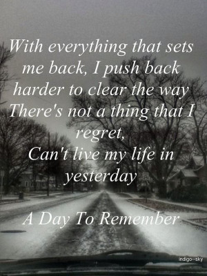 Already Gone - A Day To Remember