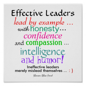 Effective Leaders - Character Traits - Small - SRF Poster