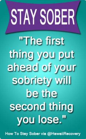 Sobriety Quotes. QuotesGram