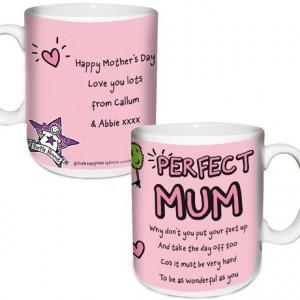 ... Gifts Presents For Mum Purple Ronnie Perfect Mum Personalised Mug