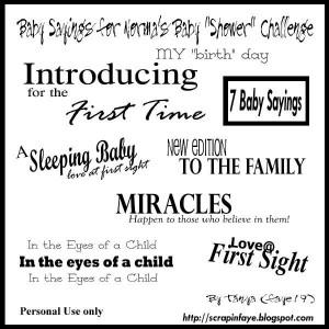 54 Very Cute Baby Scrapbook Sayings