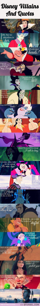 20 Disney Villains And Their Infamous Quotes… | Where the dreams ...