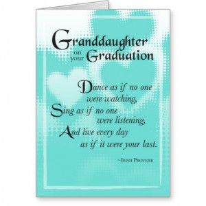 3739 Granddaughter Graduation Dance Cards