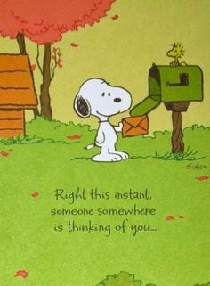 Snoopy & Woodstock~card