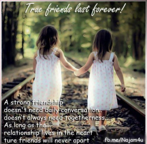 True Friend Last Forever - Friendship Quote