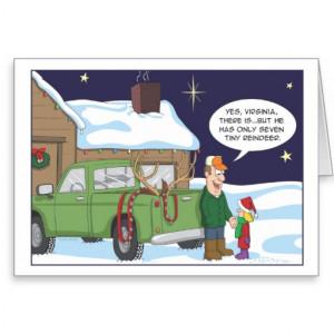 Funny Christmas card, deer hunting humor