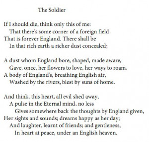 ... Brooke (WW1 Poems)Soldiers Rupert, Rupert Brooke Poem Soldiers, Quotes